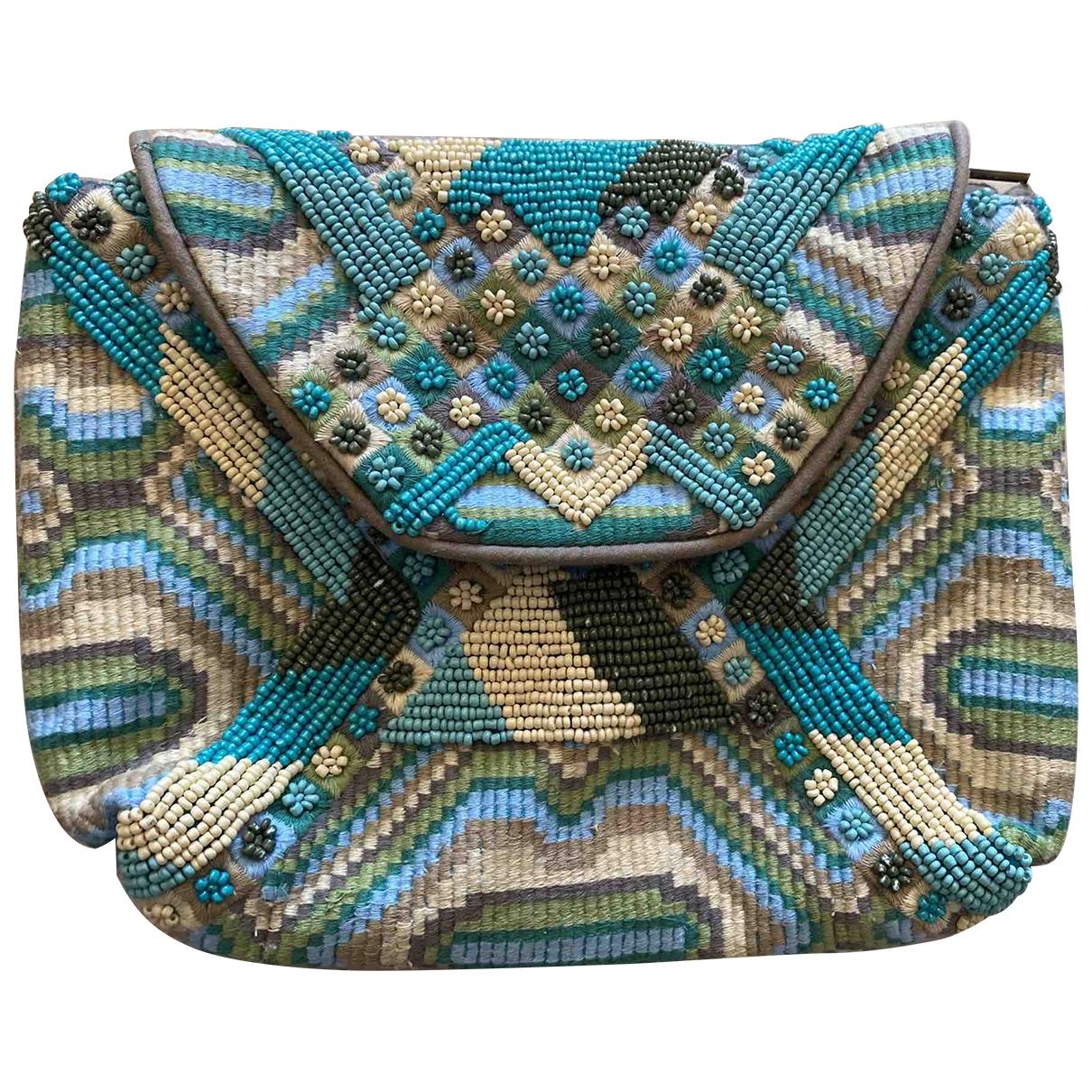 Antik Batik \N Clutch in  Blau Baumwolle
