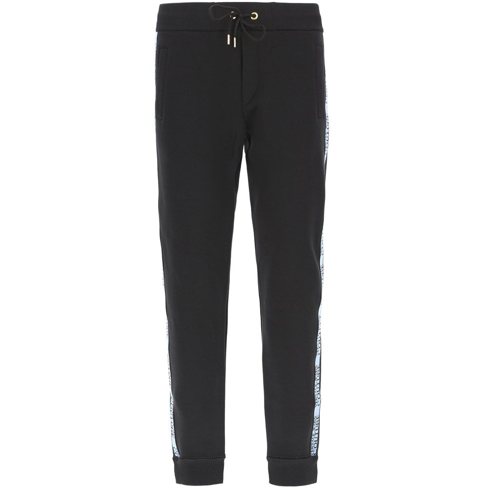 Versace Jeans Couture Tape Logo Joggers Colour: BLACK, Size: EXTRA LARGE