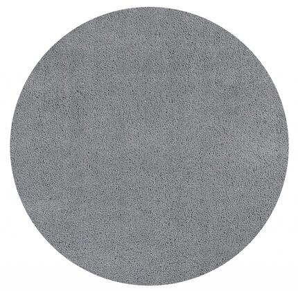 349781 8' Round Polyester Gray Area