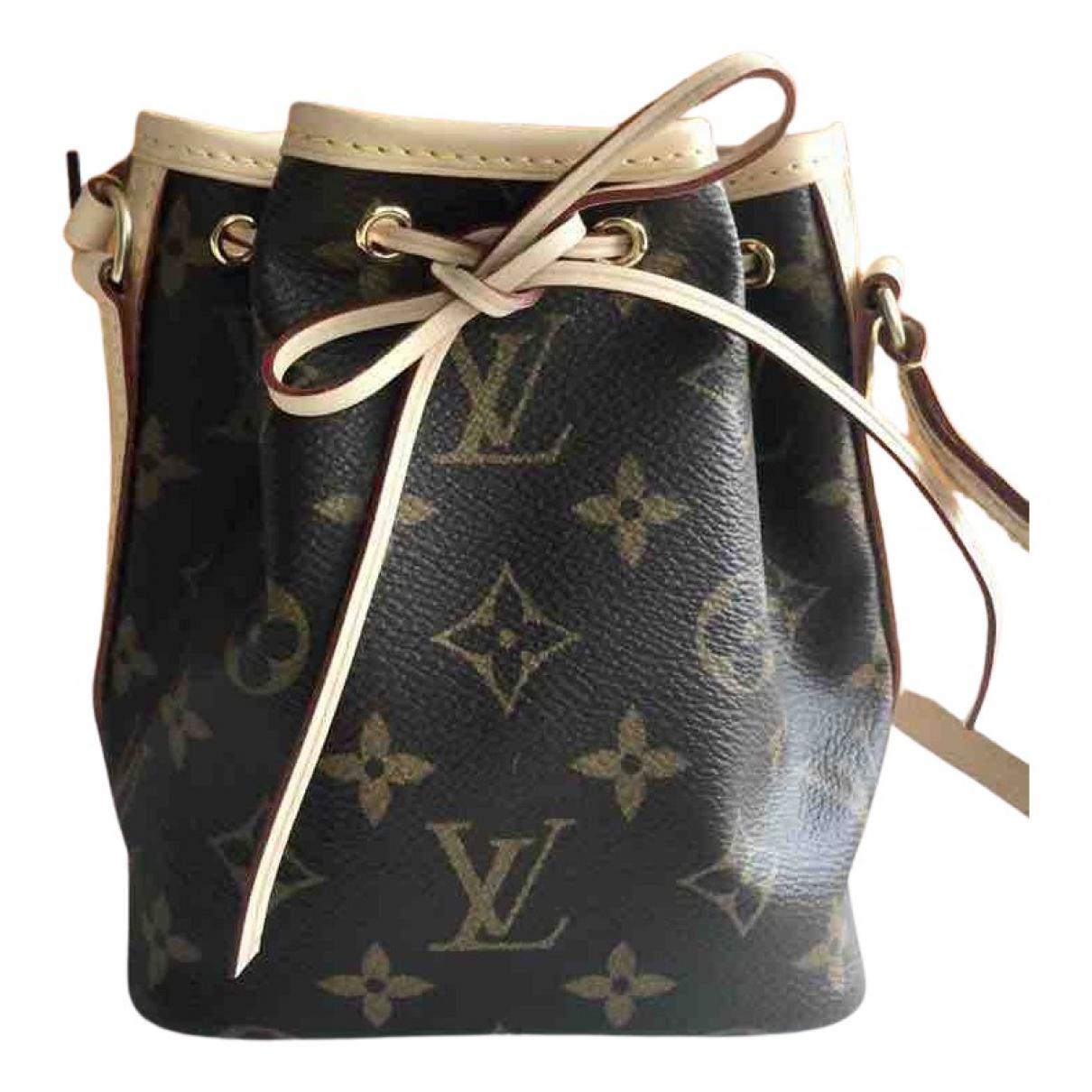Louis Vuitton - Sac a main NeoNoe BB pour femme en toile - marron