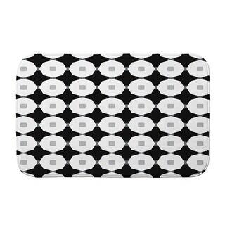 Goals, Gourds, and Gatherings  Button Up Bath Mat (Black - 17 x 24)