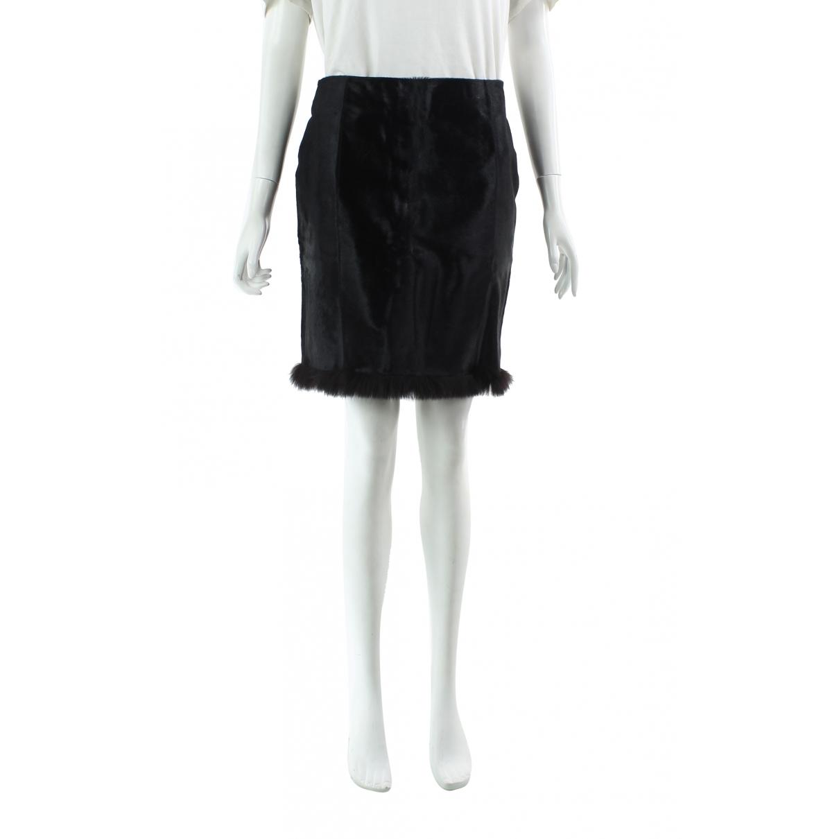 Mini falda de Cuero Prada
