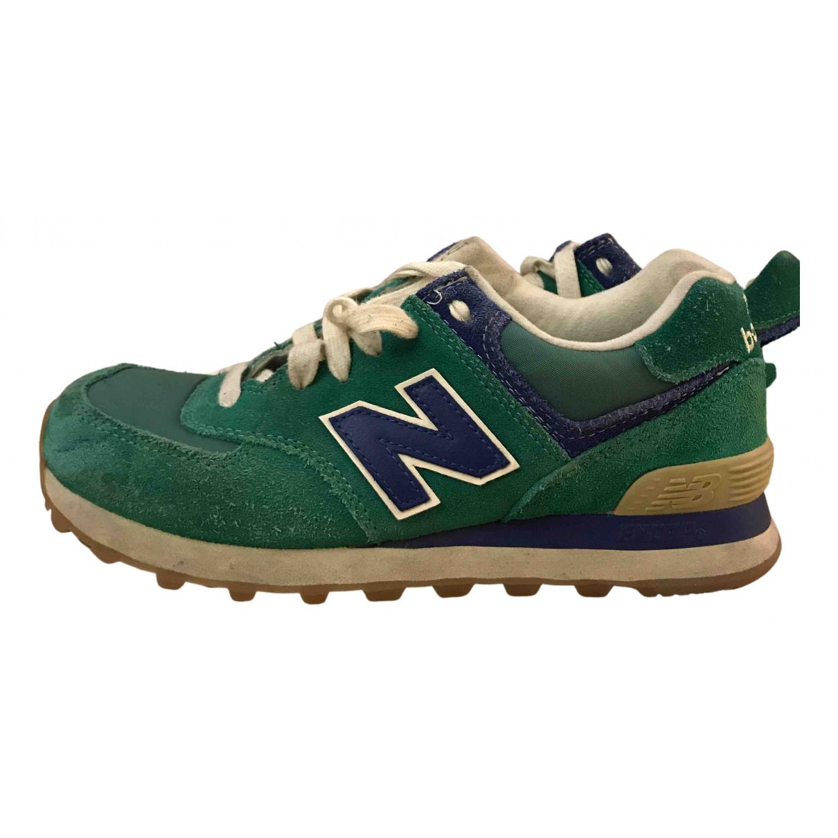 New Balance \N Sneakers in  Gruen Veloursleder