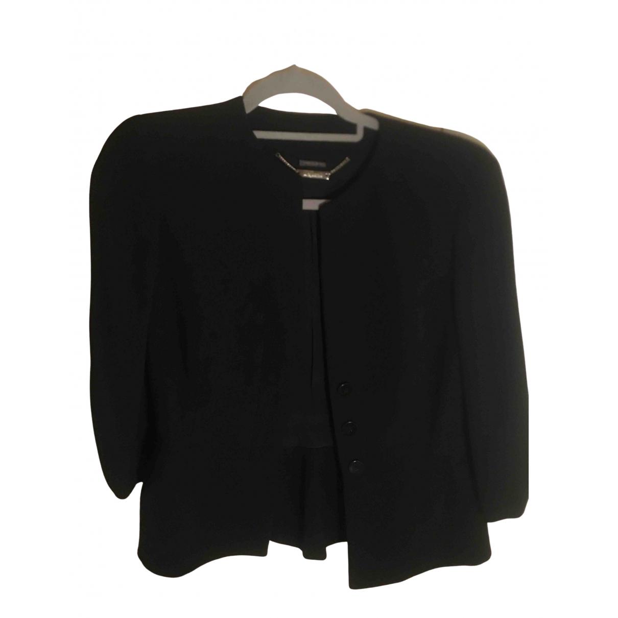 Alexander Mcqueen N Black Wool jacket for Women 42 FR