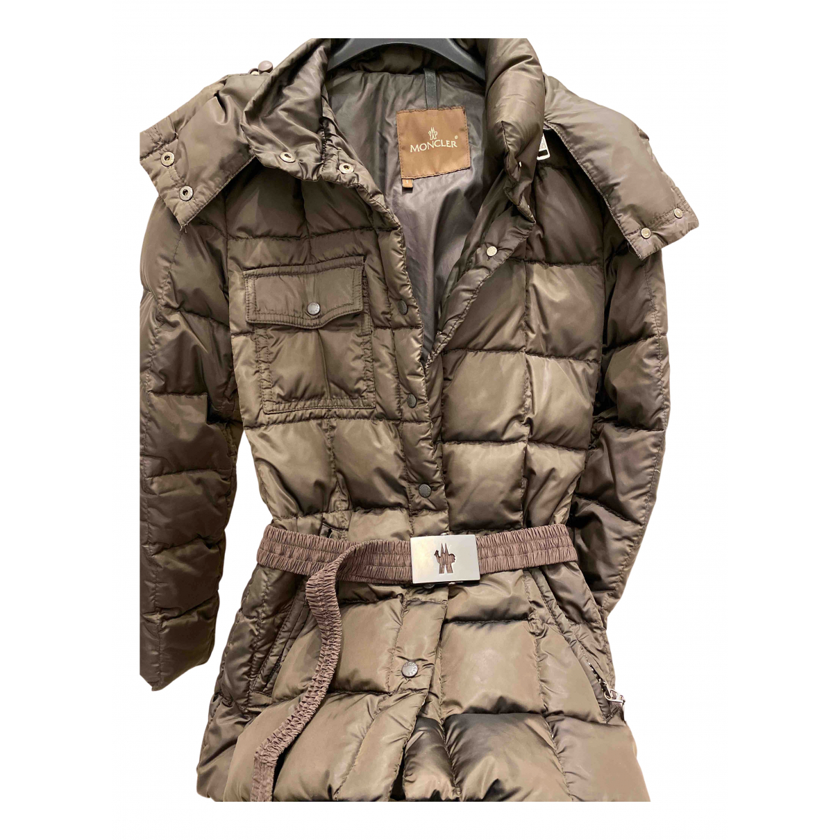 Moncler - Veste Classic pour femme - marron