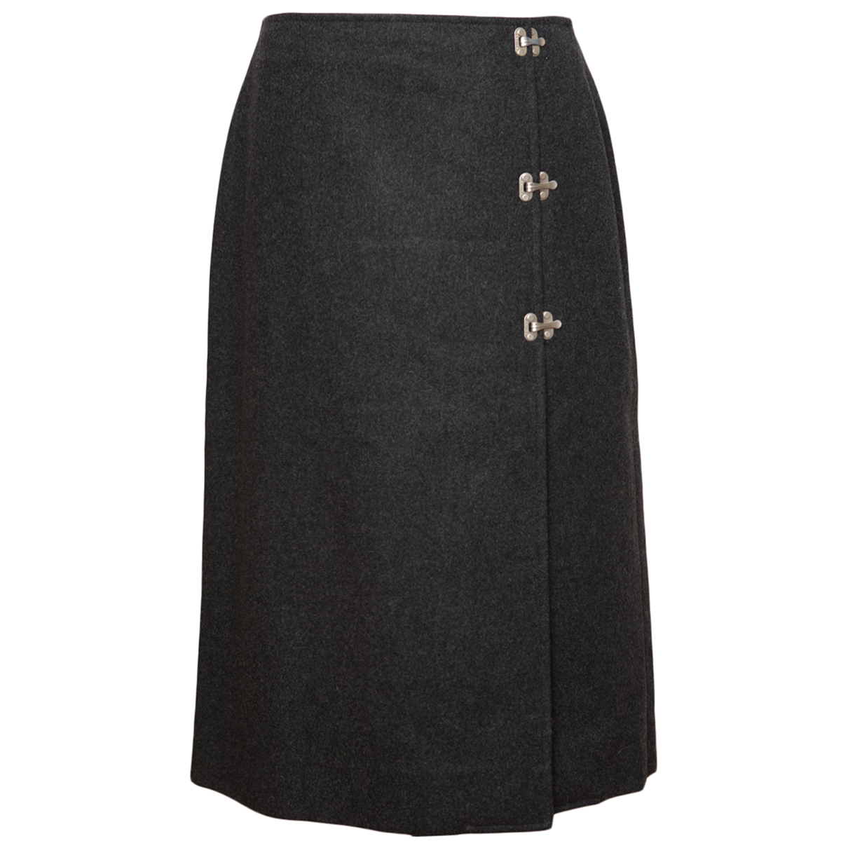 Celine N Grey Wool skirt for Women 42 FR