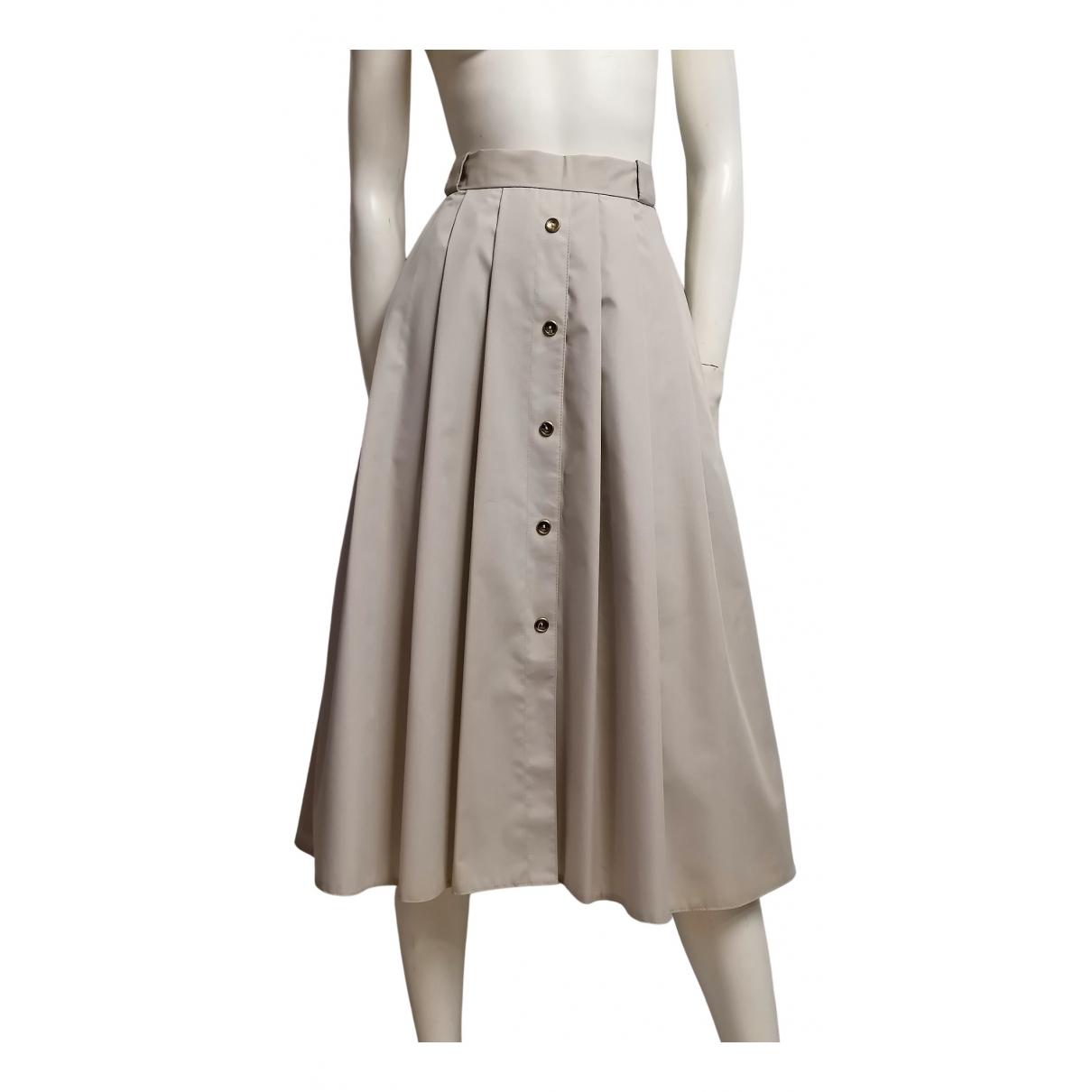Non Signé / Unsigned N Beige skirt for Women L International