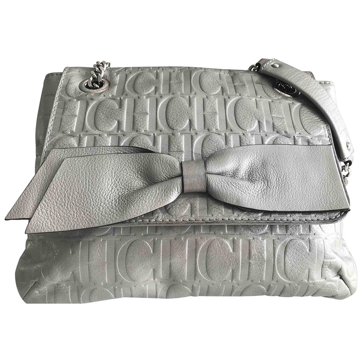 Carolina Herrera \N Handtasche in  Silber Leder