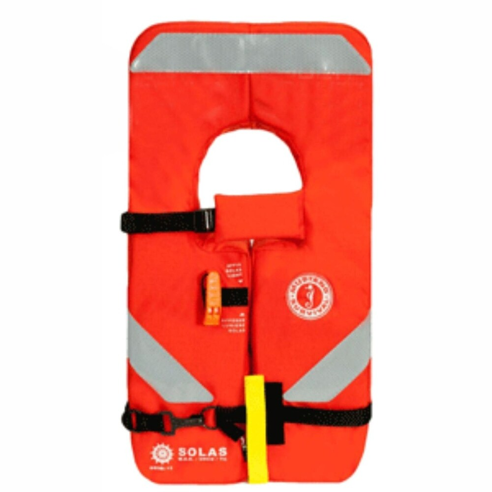Orange Unisex 4-One Type I Vest for Children 33-90Lbs (Orange)
