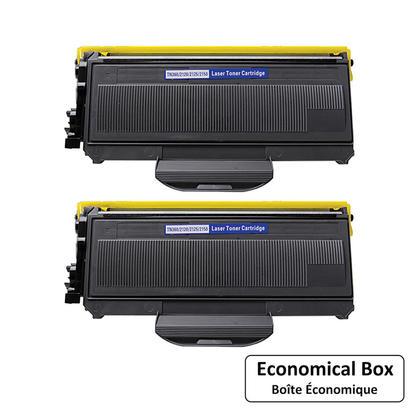 Compatible Brother TN360 Black Toner Cartridge - Economical Box - 2/Pack