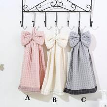 1pc Bow Decor Hand Towel