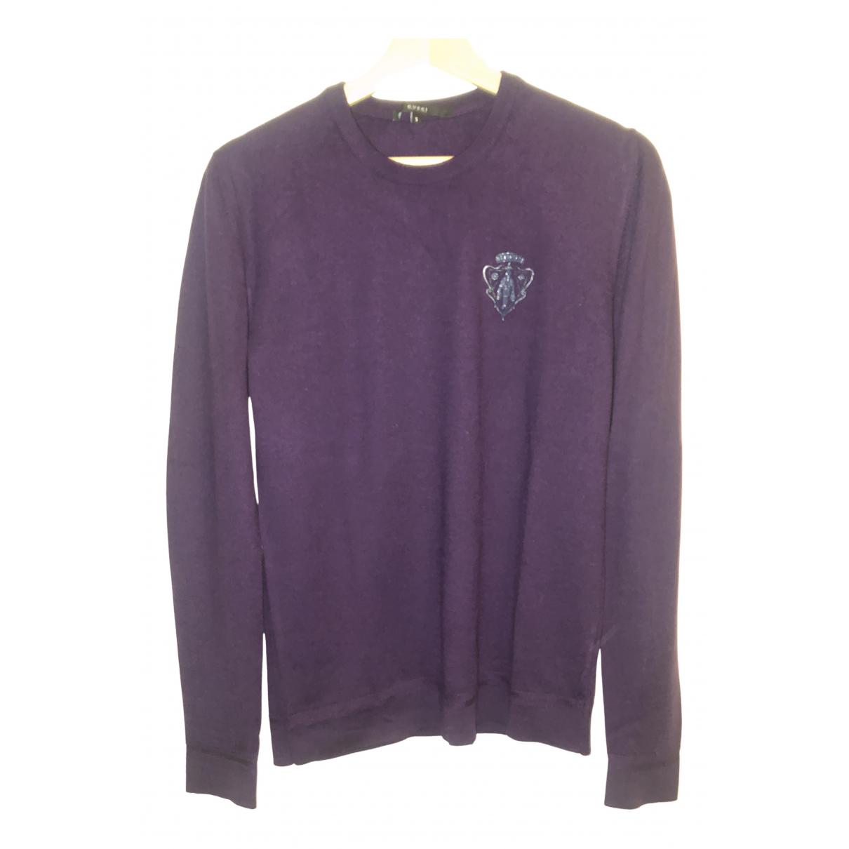 Gucci \N Pullover.Westen.Sweatshirts  in  Bordeauxrot Wolle