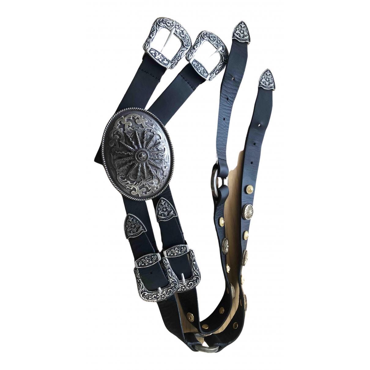 Fausto Puglisi N Black Leather belt for Women XS International