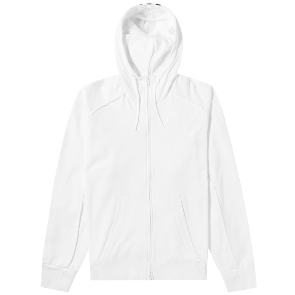 Y-3 Reverse Signature Logo Zip Hoodie White Colour: WHITE, Size: MEDIUM