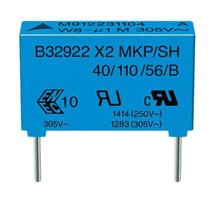 EPCOS 470nF Polypropylene Capacitor PP 305 V ac, 630 V dc ±20% Tolerance B32922C Series (10)