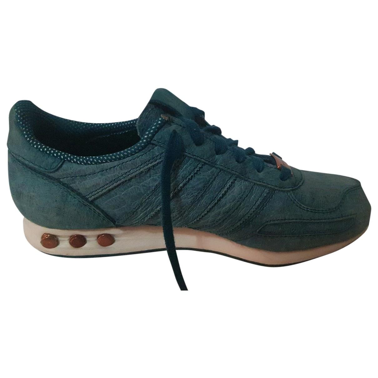 Adidas - Baskets   pour femme en cuir - turquoise