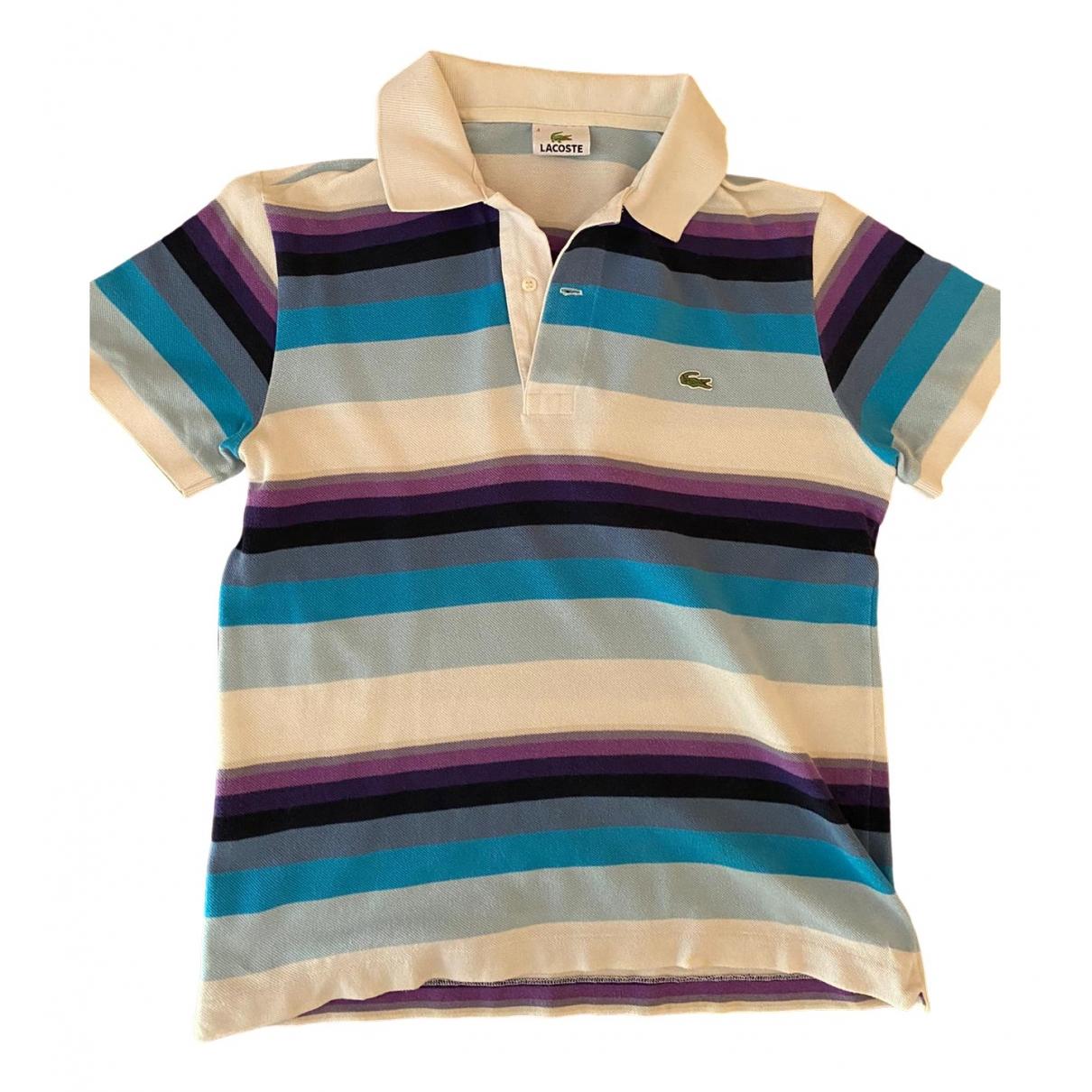 Lacoste - Polos   pour homme en coton - turquoise