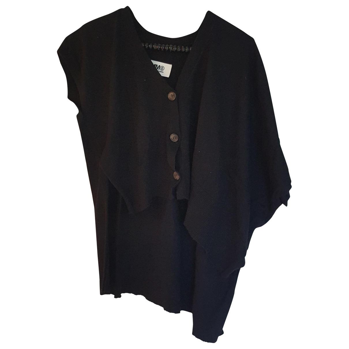 Mm6 \N Pullover in  Schwarz Baumwolle