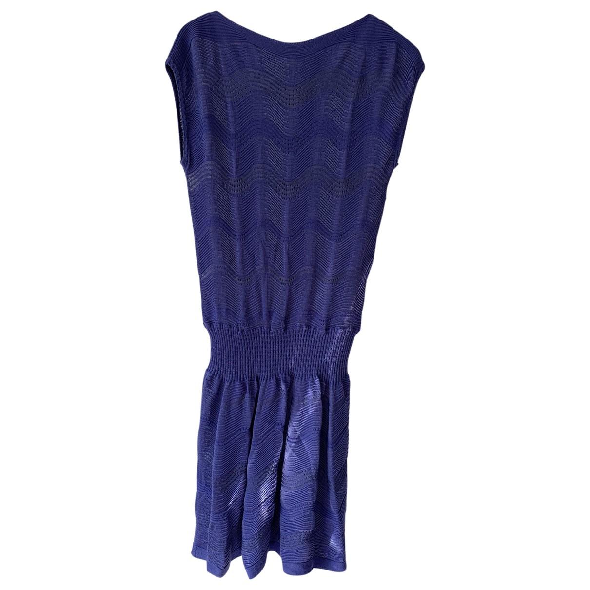 M Missoni - Robe   pour femme en laine - bleu