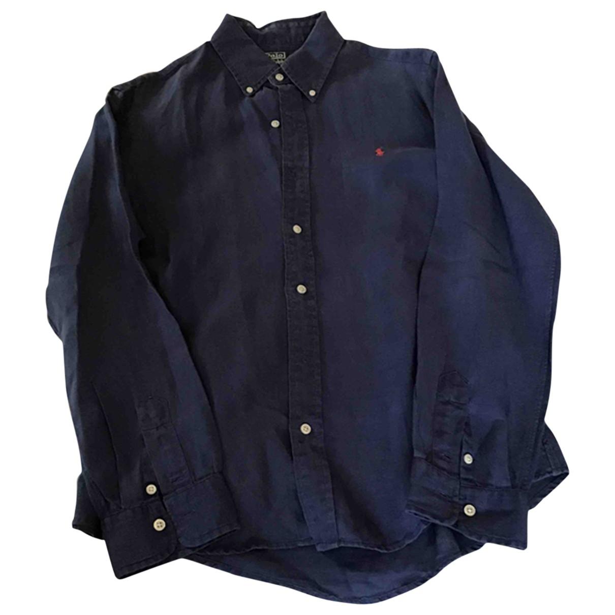 Polo Ralph Lauren \N Navy Linen Shirts for Men M International