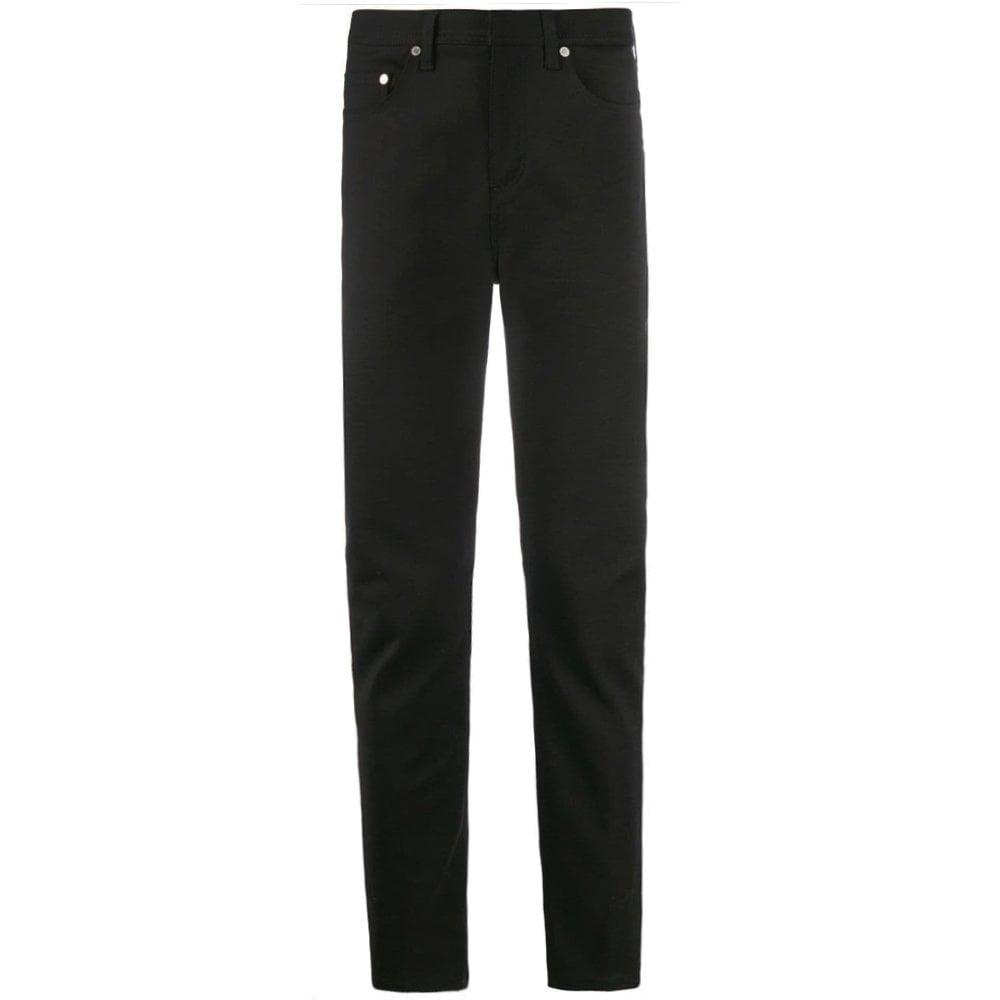Neil Barrett Velvet Black Skinny Jeans Colour: BLACK, Size: 30 32