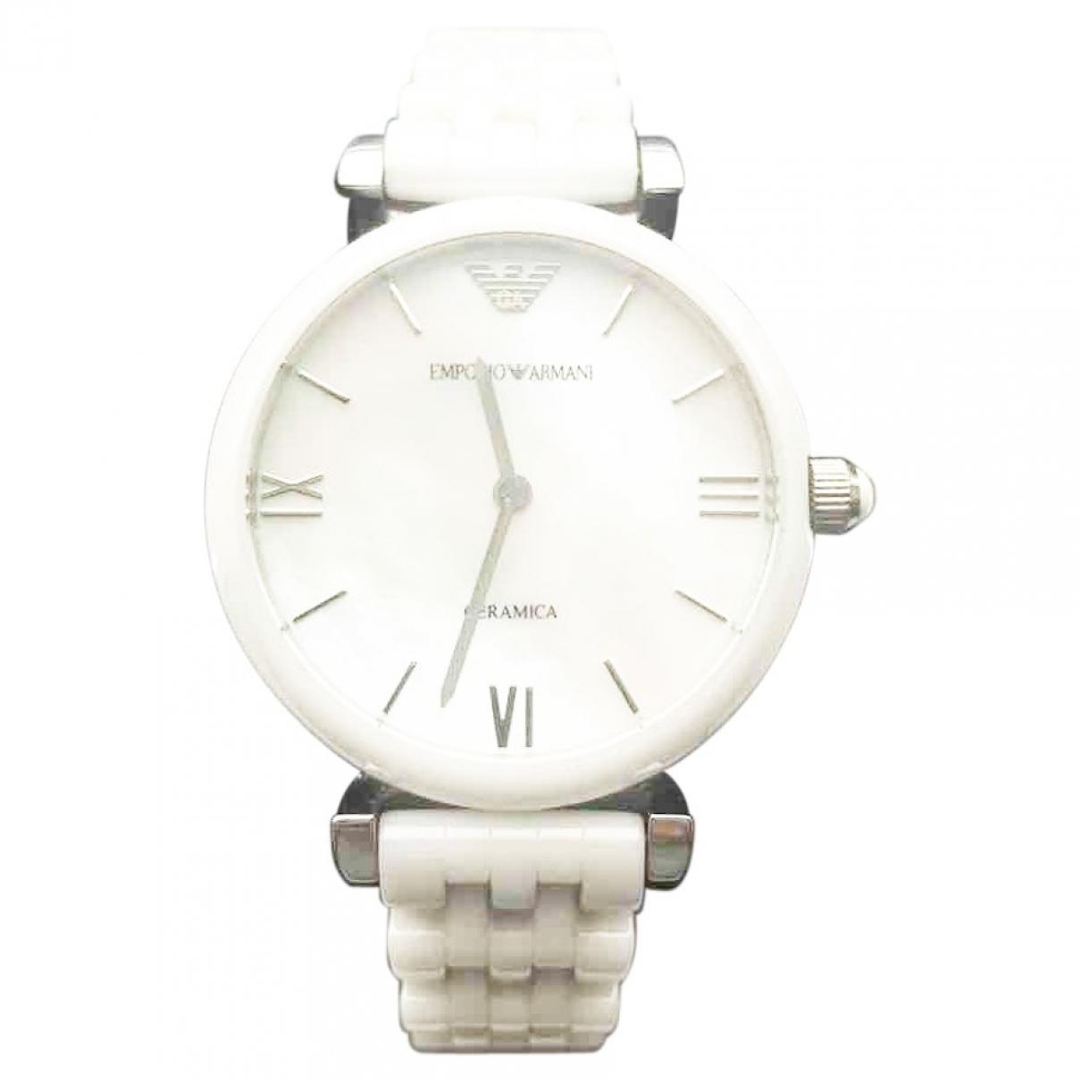Emporio Armani \N White Ceramic watch for Women \N