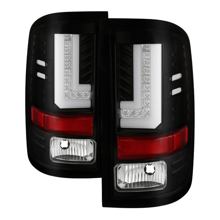 Spyder Auto ALT-YD-GS16-LED-BK Light Bar LED Tail Lights Black GMC Sierra 16-17