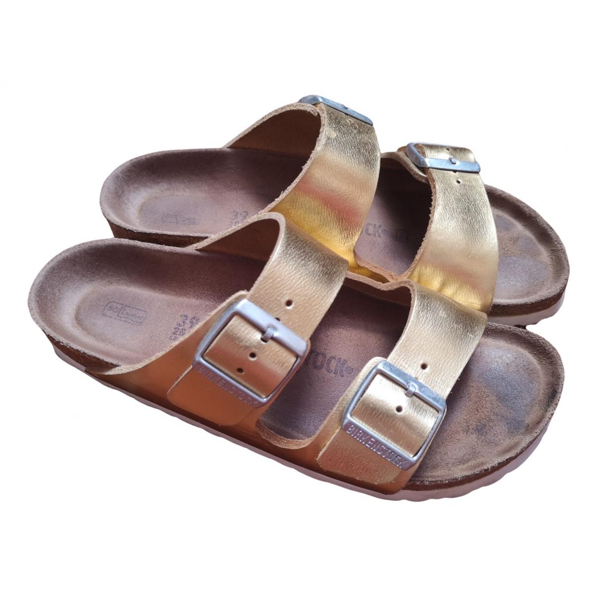 Birkenstock \N Gold Leather Sandals for Women 39 EU