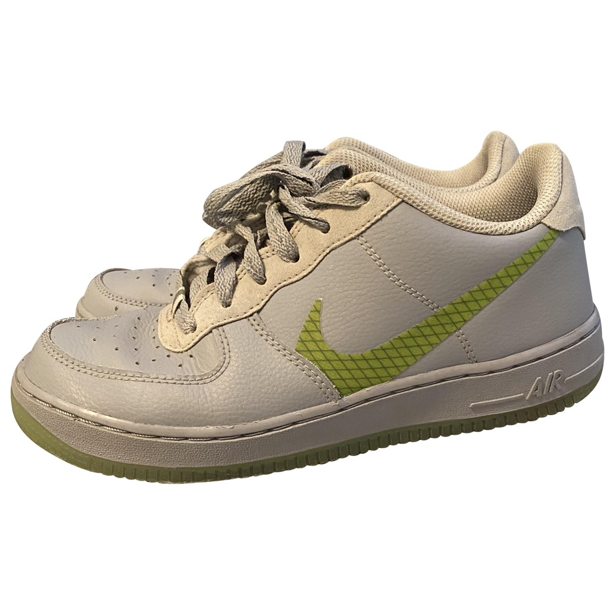 Nike Air Force 1 Grey Leather Trainers for Women 37.5 EU