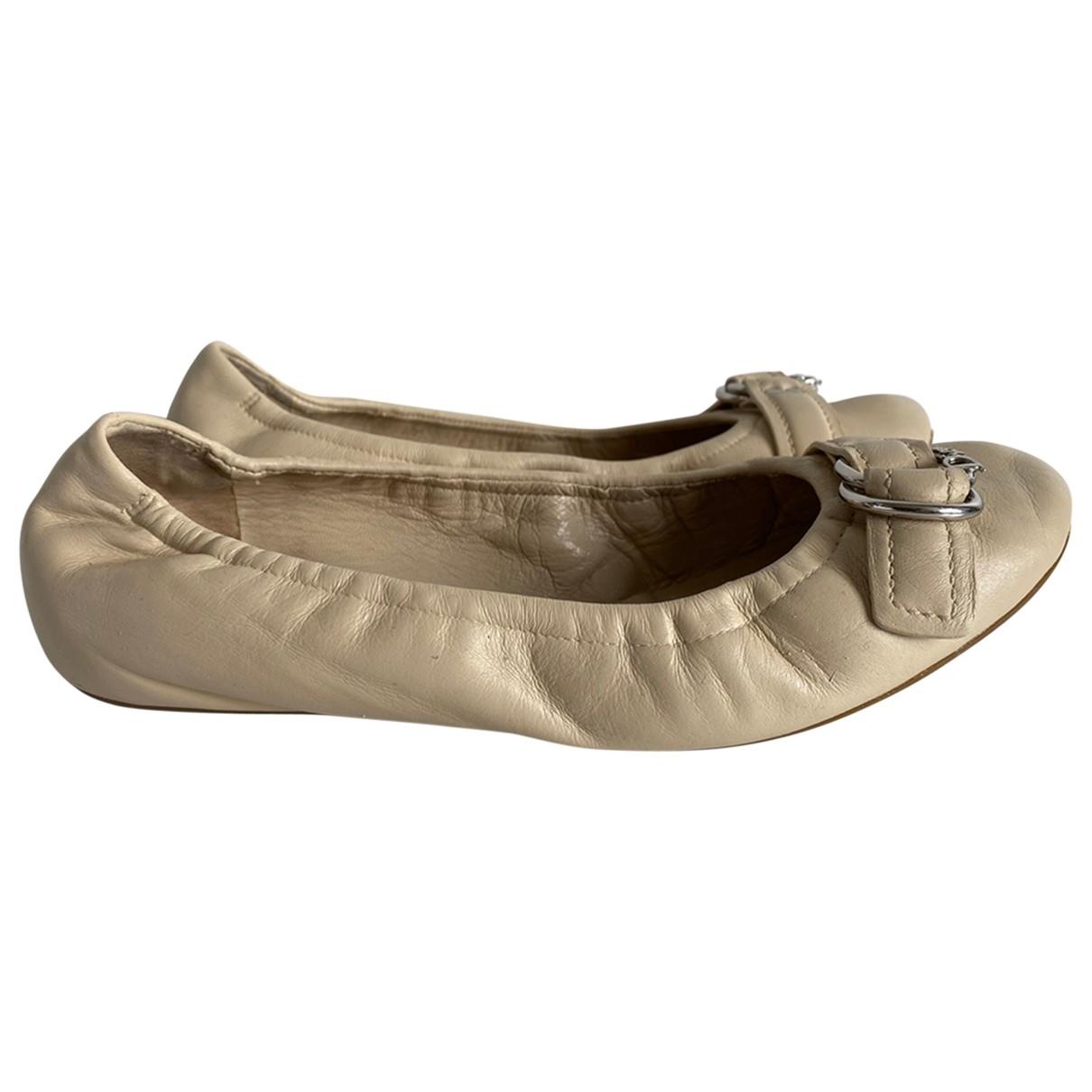 Dior - Ballerines   pour femme en cuir - beige