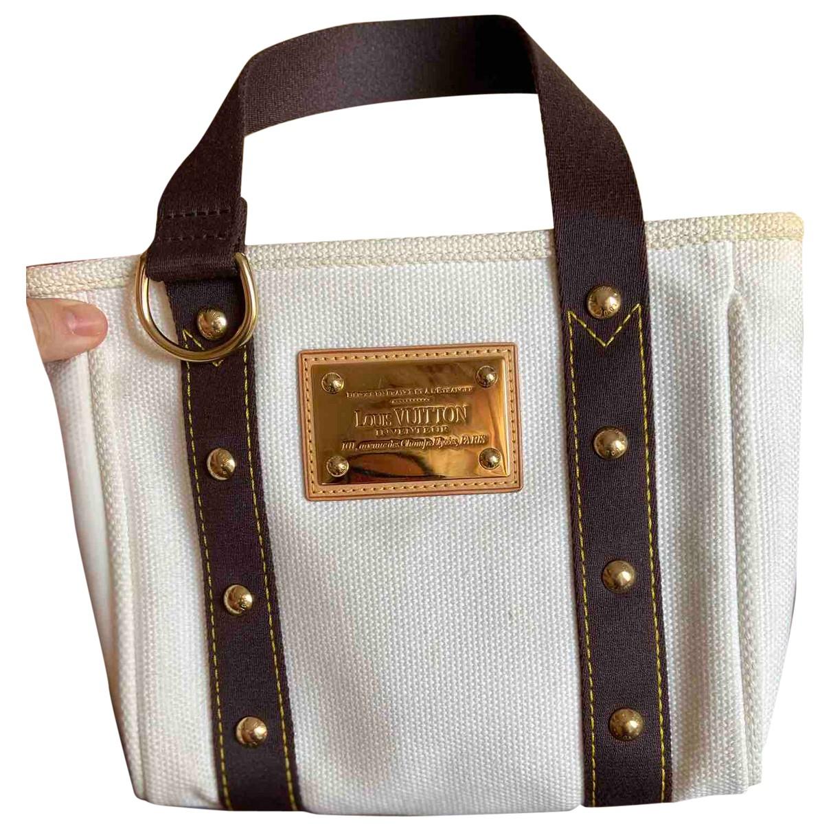 Louis Vuitton Antigua Handtasche in  Ecru Leinen