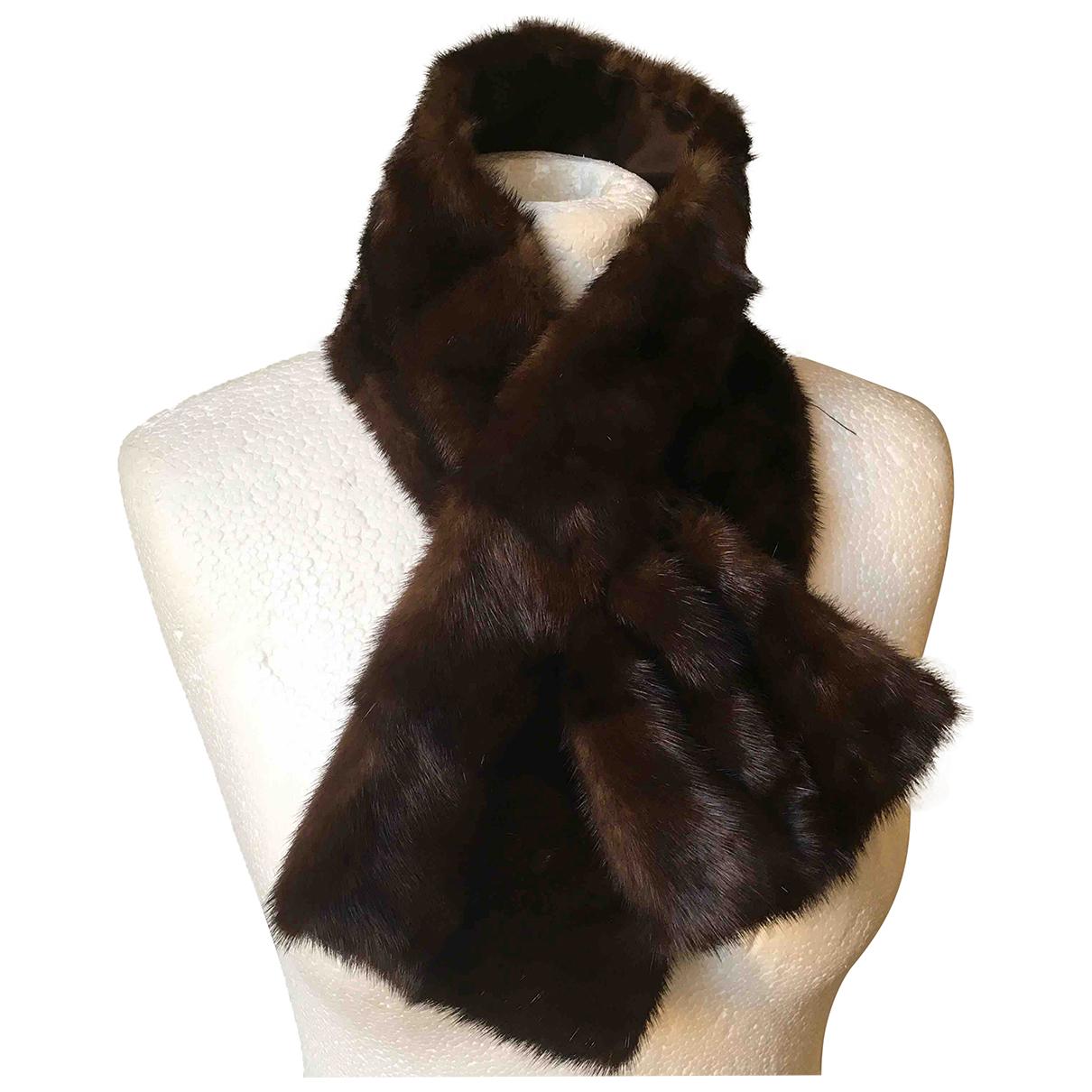 - Foulard   pour femme en vison - marron