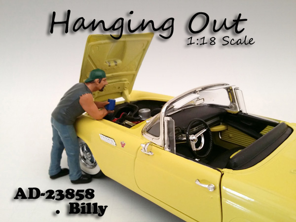 Hanging Out Billy Figure For 118 Scale Models by American Diorama