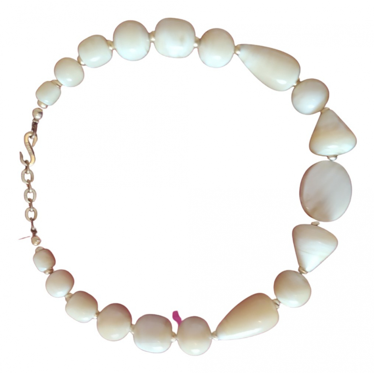 Yves Saint Laurent \N Kette in  Beige Perlen