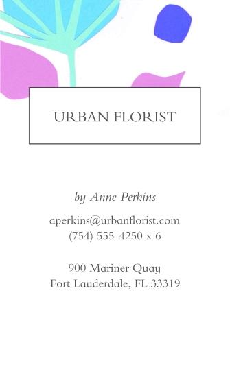 Floral Business Cards, Set of 40, Silk, Card & Stationery -Flower Shop