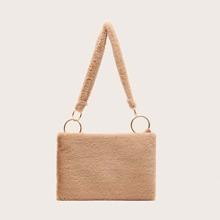 Minimalist Fluffy Shoulder Bag