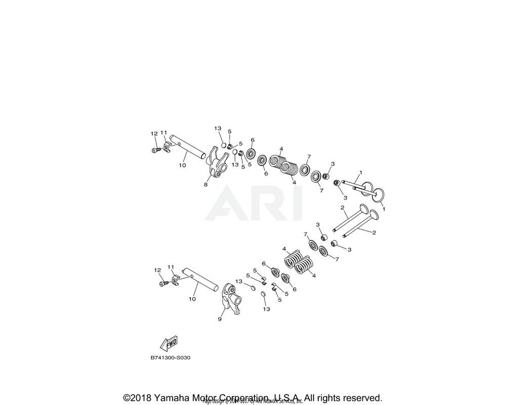 Yamaha OEM B74-12169-J0-00 PAD, ADJUSTING (2.55)   UR