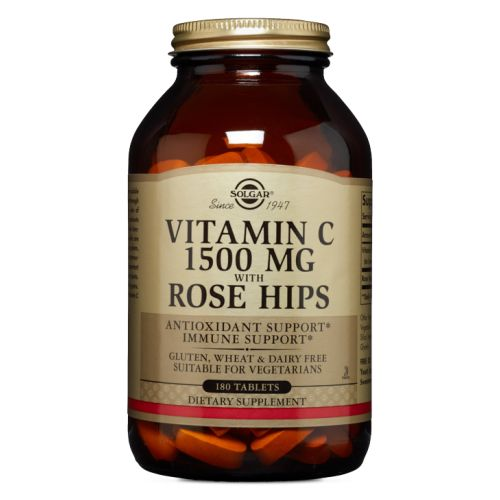 Vitamin C with Rose Hips 90 Tabs by Solgar
