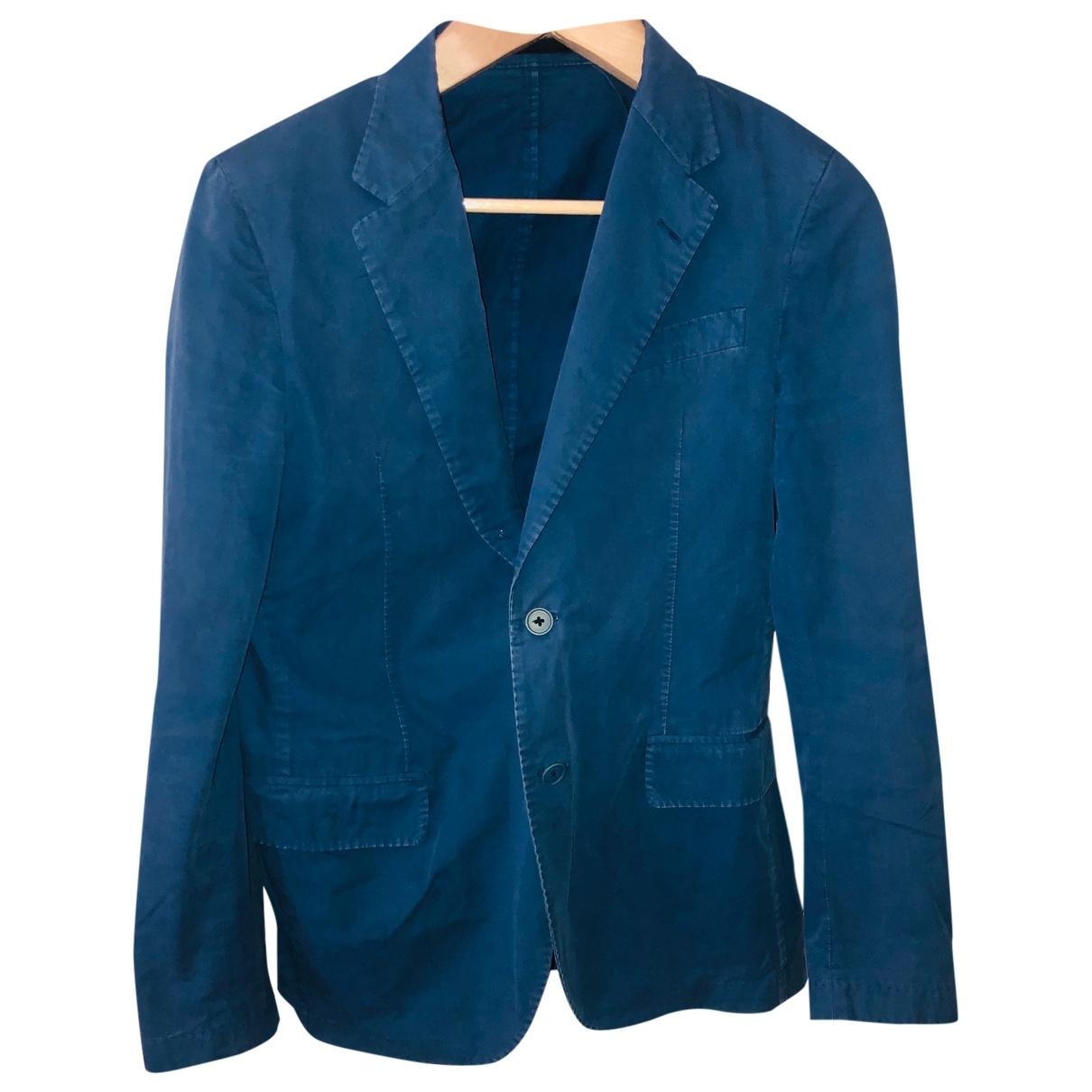 Lanvin - Vestes.Blousons   pour homme en coton - bleu