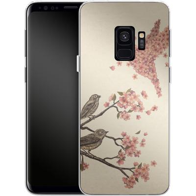 Samsung Galaxy S9 Silikon Handyhuelle - Blossom Bird von Terry Fan
