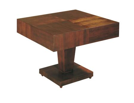 3310-02S Sarasota Square Occasional Table With Pedestal Base In Walnut on Walnut
