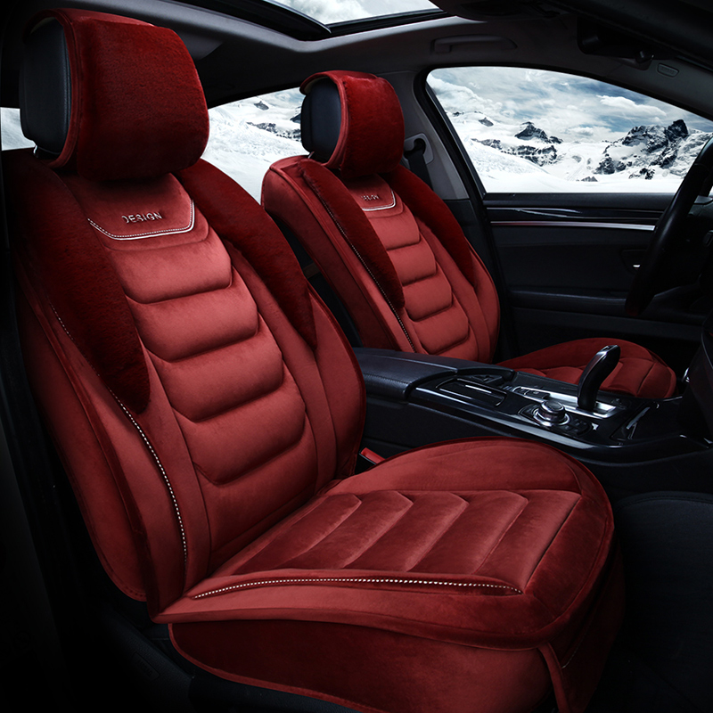 Suede Simple Style Winter Season Warm Universal Fit Seat Covers