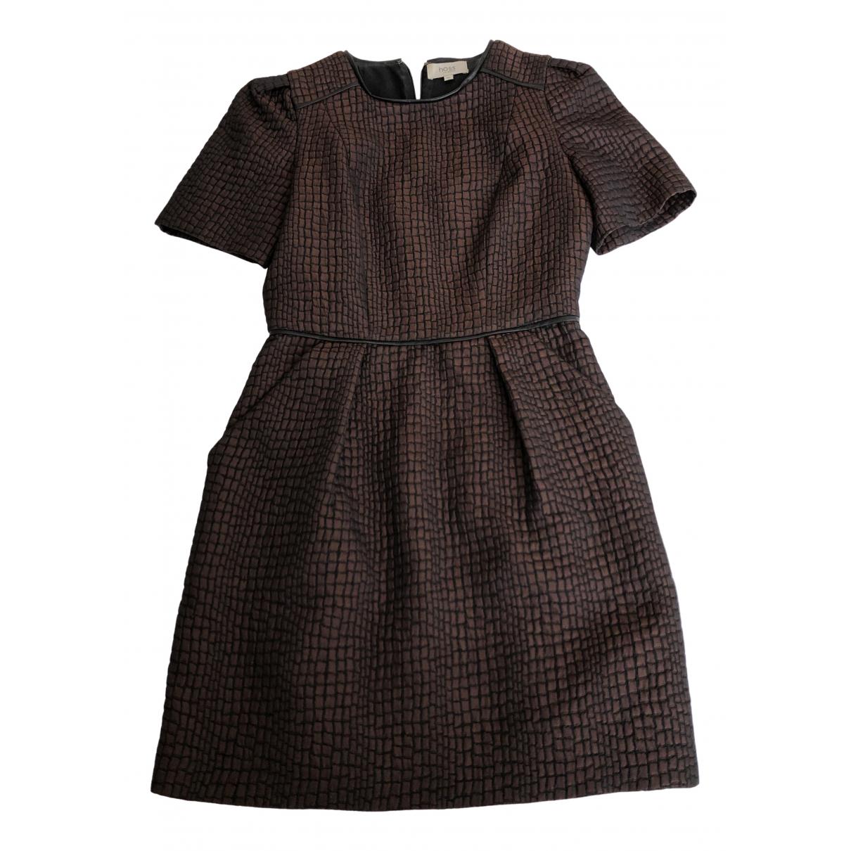 Hoss Intropia \N Kleid in  Braun Viskose
