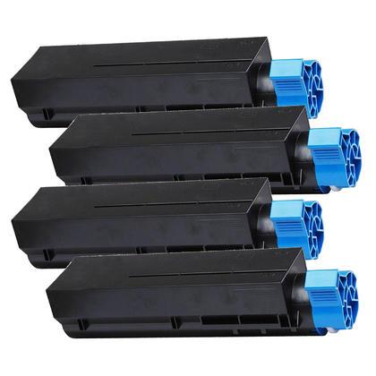 Compatible Okidata 44992405 cartouche de toner noire - boite economique - 4/paquet