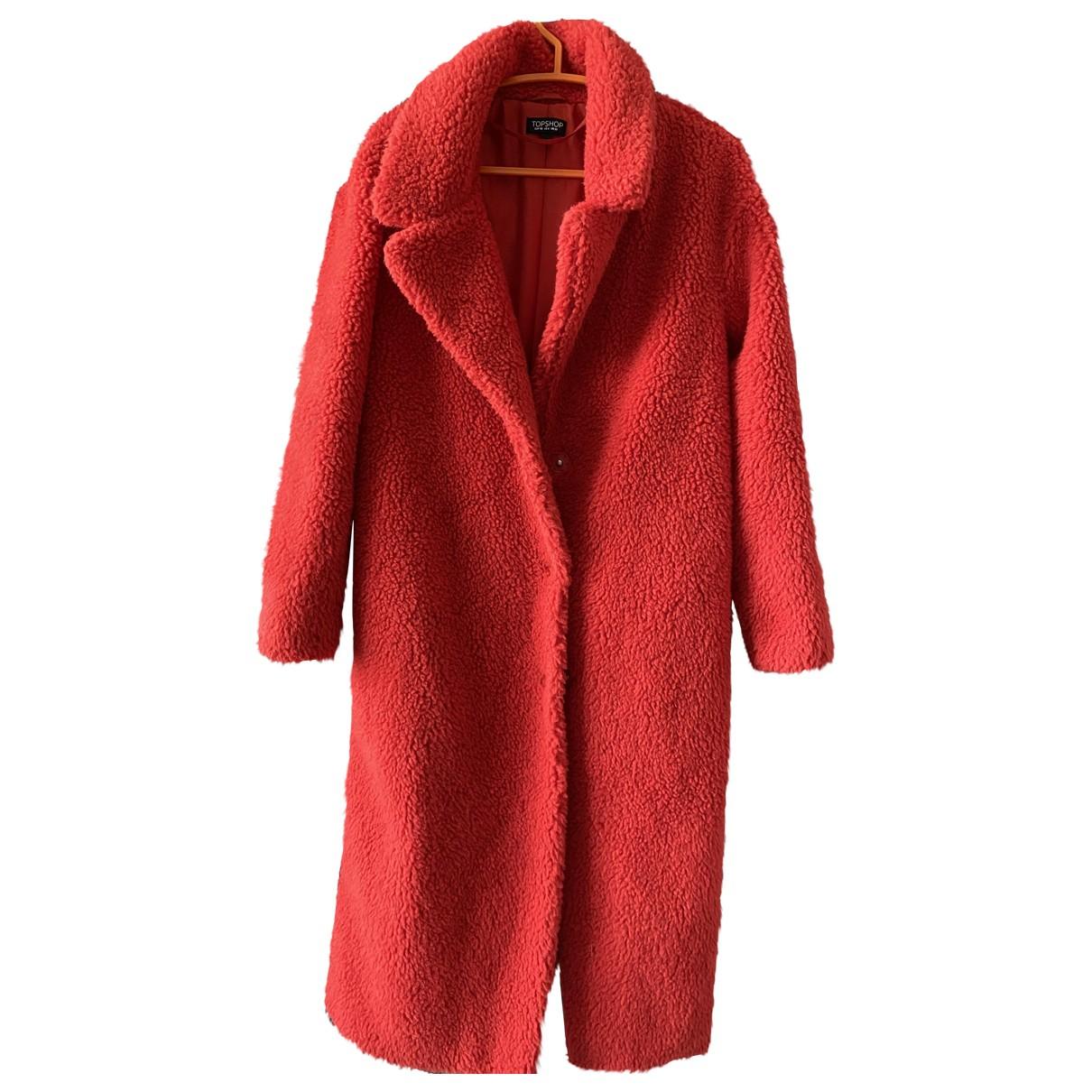 Tophop \N Maentel in  Orange Wolle