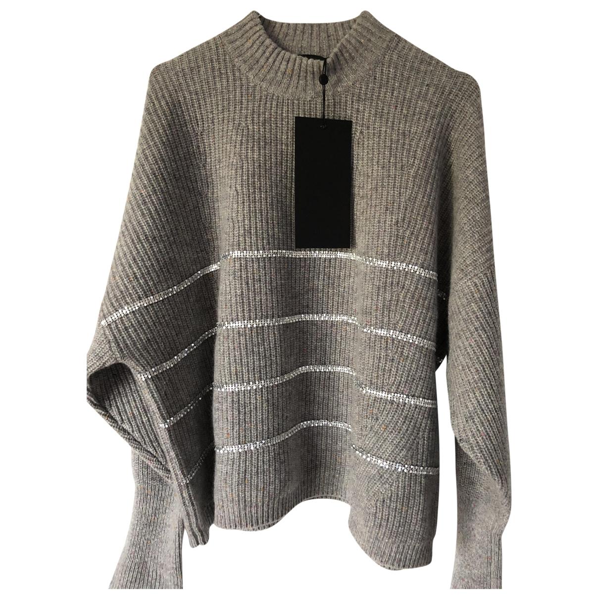 The Kooples - Pull   pour femme en laine - gris