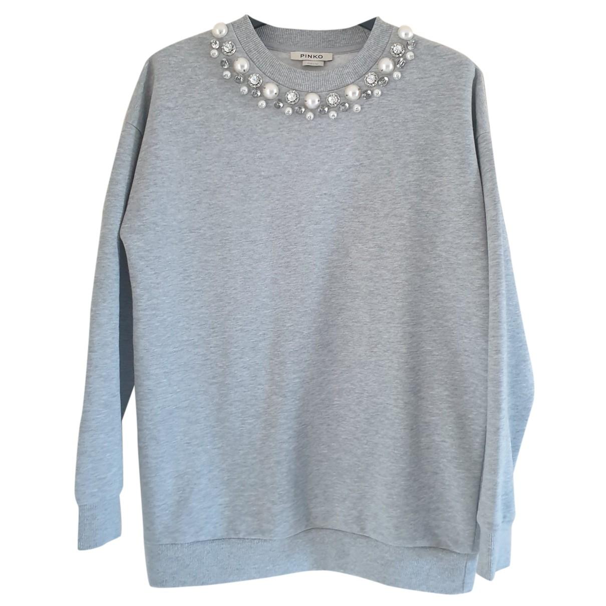 Pinko - Pull   pour femme en coton - gris