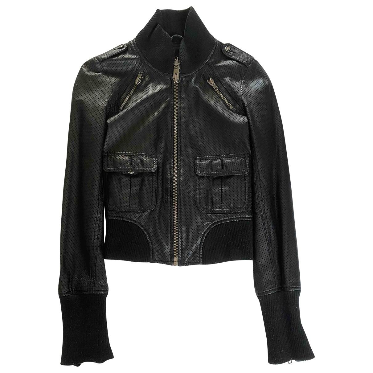 Rock & Republic De Victoria Beckham - Veste   pour femme en cuir - noir