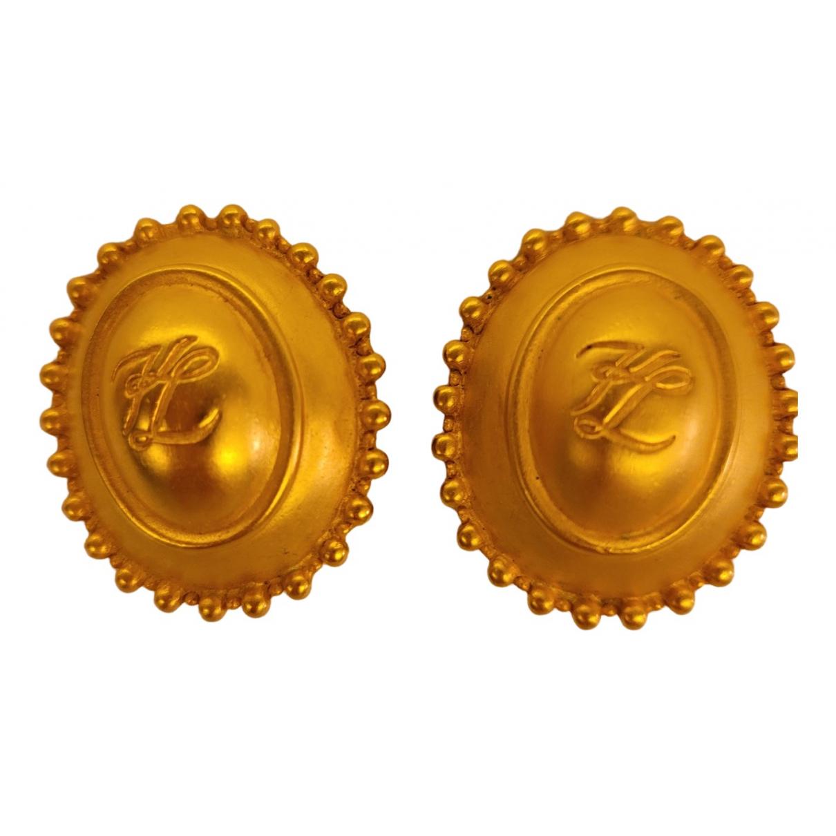 Karl Lagerfeld \N OhrRing in  Gold Metall