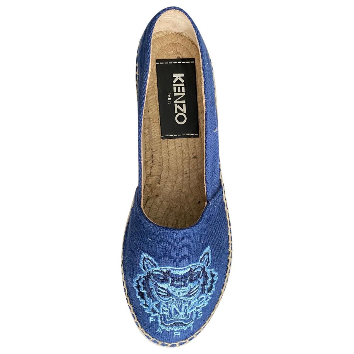 Kenzo \N Espadrilles in  Blau Leinen